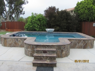 Custom Raised Pool