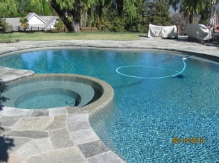 Freeform Pool and Spa After Remodel