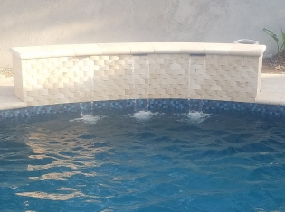 Water Feature Wall with Custom Tile